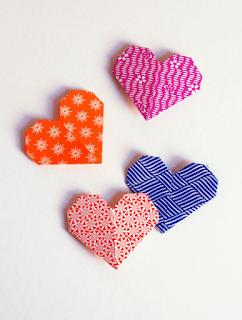 Marcador para Página de livros | Coração em Origami