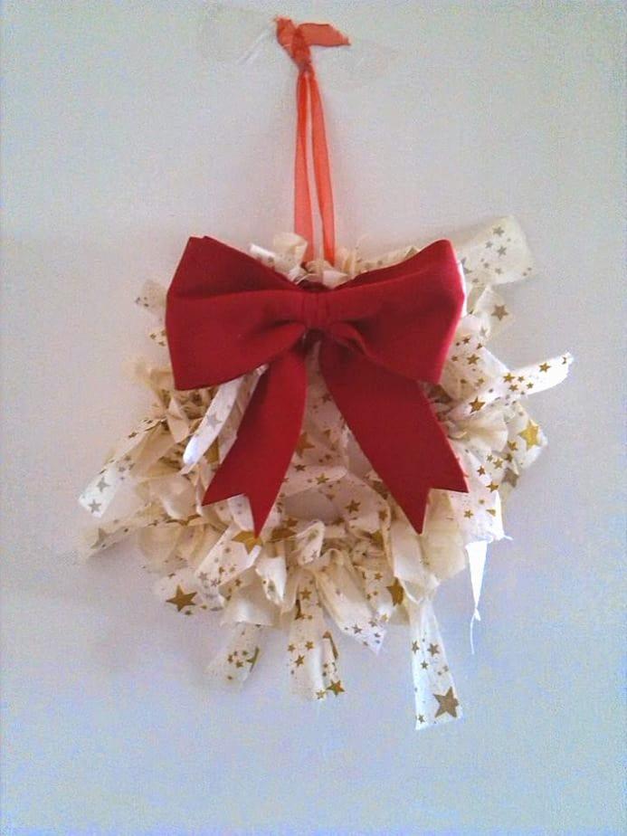 Coroa de Natal em tecido