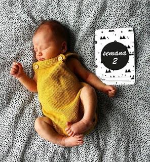 To family with love – Cartões de bebé Milestone