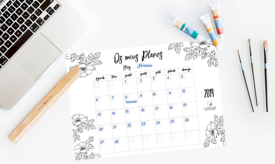 O teu Planner mensal para te manteres sempre Organizada!