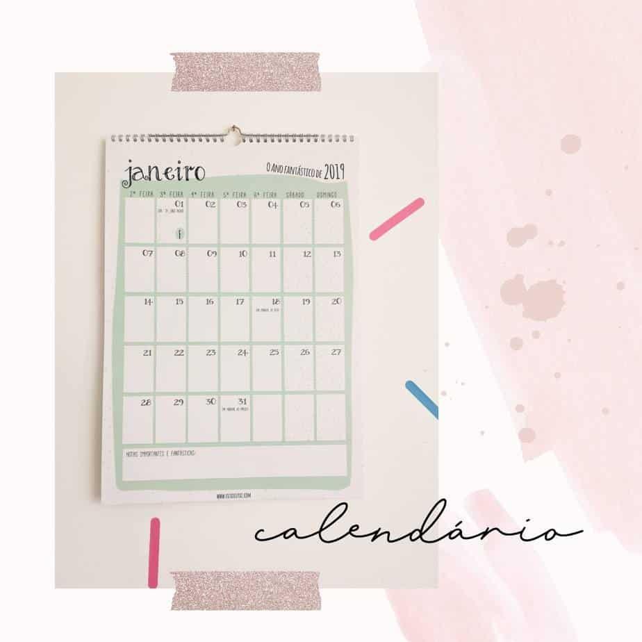 Calendário para a família – O Ano fantástico de 2019