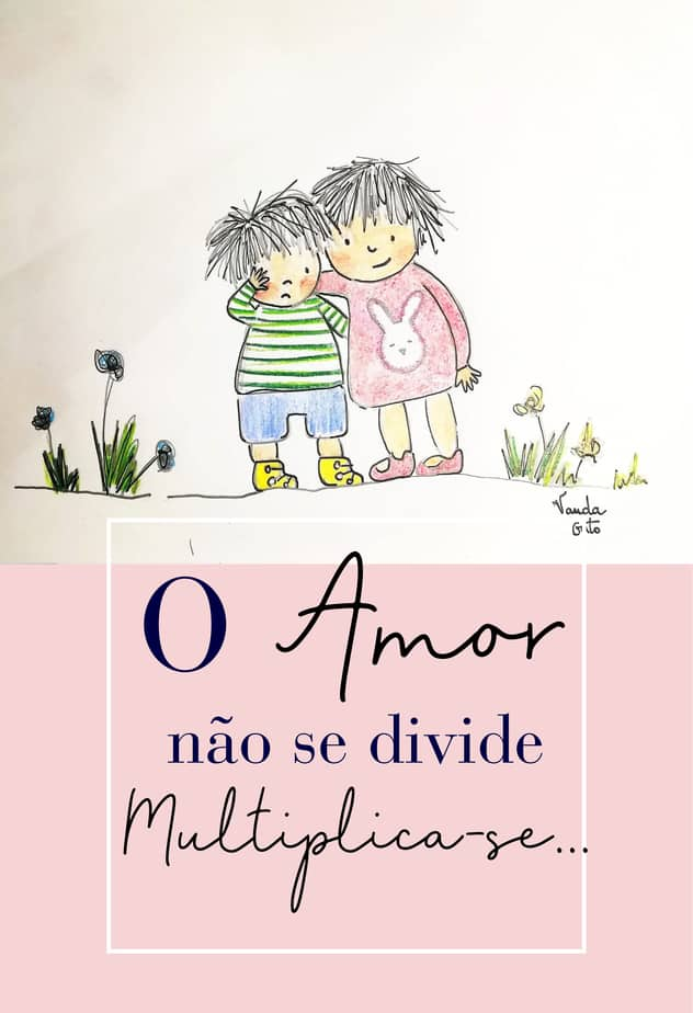 Ilustração O amor não de divide multiplica-se