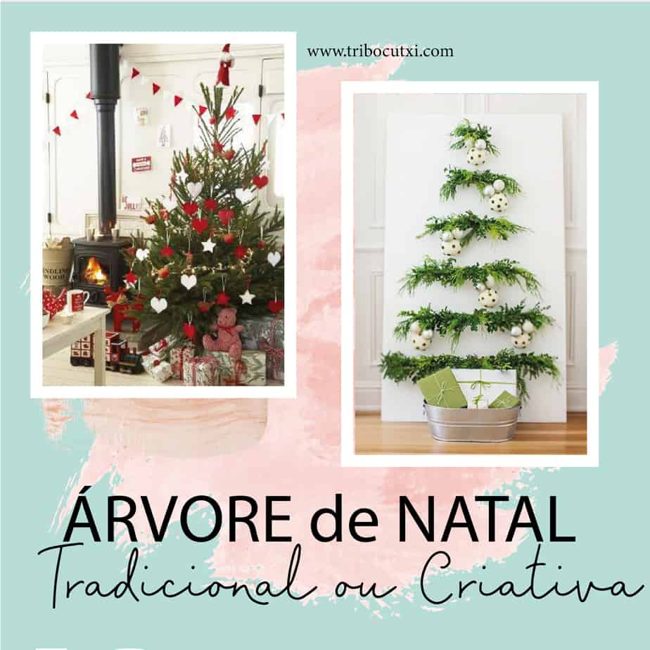 Árvore de Natal Tradicional ou Criativa?