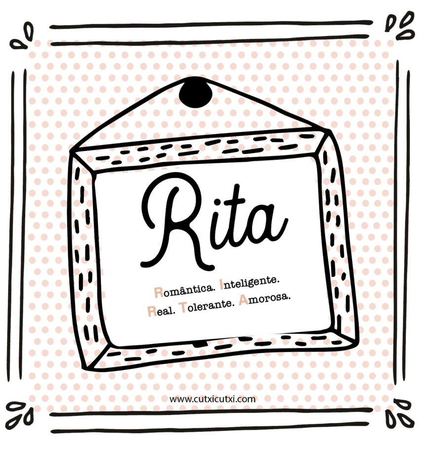 significado nome Rita