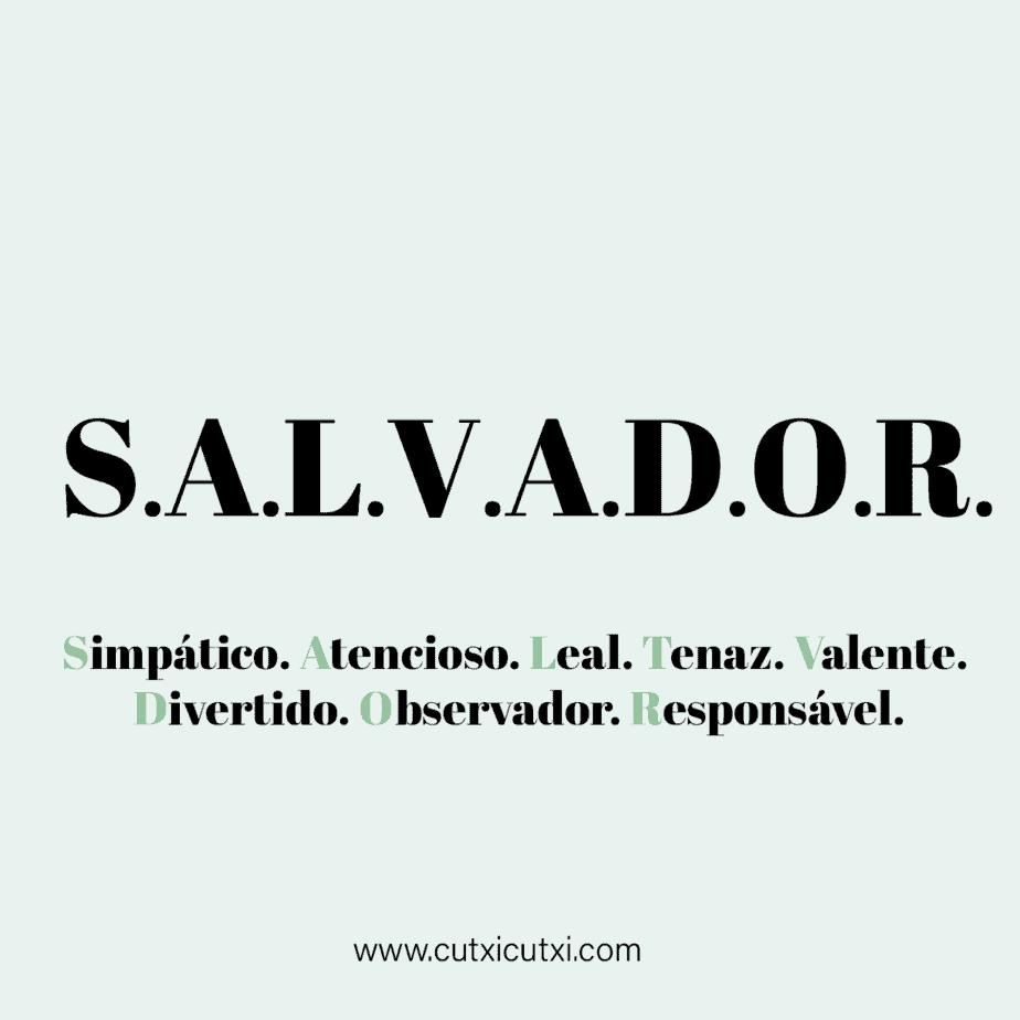 SALVADOR – Qual o significado?