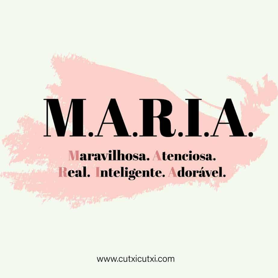 M.A.R.I.A – significado do nome