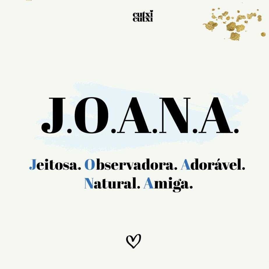 JOANA –  Significado do nome